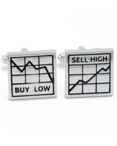 N-1020 Manchetknopen - Beurs Beleggen Buy Low Sell High 1.jpg
