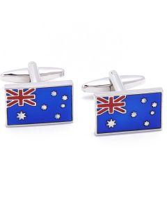 N-1092 Manchetknopen - Australische Vlag Australie Blauw Rood 1.jpg