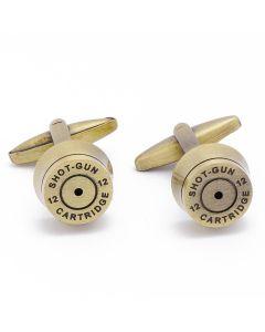 N-1608 Manchetknopen - Shotgun Huls Kogel Brons 1.jpg
