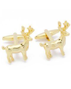 N-1762 Manchetknopen - Rendier Eland Deer Hert Goud 1.jpg