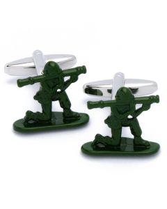 N-2186 Manchetknopen - Militair met Bazooka Leger Groen 1.jpg