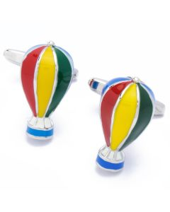 N-2236 Manchetknopen - Luchtballon Blauw Rood Geel Groen 1.jpg