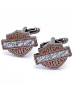 N-2290 Manchetknopen - Motorfiets Merk Harley Davidson Rood Wit 1.jpg