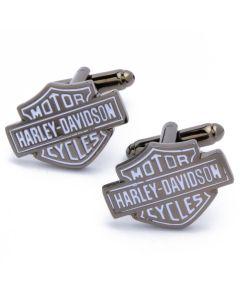 N-2293 Manchetknopen - Motorfiets Merk Harley Davidson Zwart Grijs 1.jpg