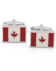 N-2433 Manchetknopen - Canadese Vlag Canada Rood Wit 1.jpg