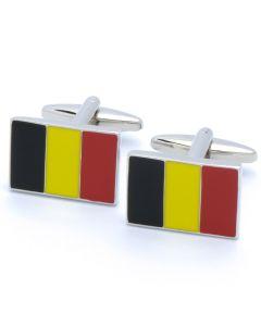 N-2518 Manchetknopen - Belgische Vlag Zwart Blauw Rood 1.jpg