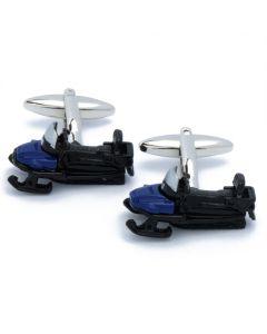 N-2593 Manchetknopen - Sneeuwscooter Zwart en Blauw 1.jpg