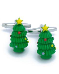 N-2651 Manchetknopen - Kerstboom Groen met Rood en Geel 1.jpg