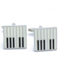N-2739 Manchetknopen - Pianotoetsen Wit Zwart Zilver 1.jpg