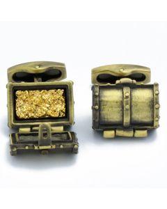N-2764 Manchetknopen - Piraten Schatkist met Gouden Schat 1.jpg