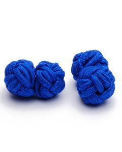 SK-1010 Manchetknopen - Zijden Knoop Blauw 1.jpg