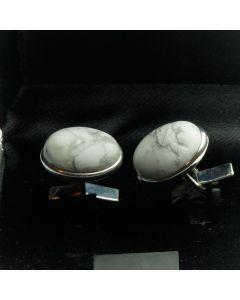 ZE1-1004 Manchetknopen - Echt Zilver 925 Howliet 1.jpg