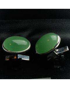ZE1-1005 Manchetknopen - Echt Zilver 925 Aventurijn 1.jpg