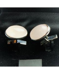 ZE1-1006 Manchetknopen - Echt Zilver 925 Rozenkwarts 1.jpg