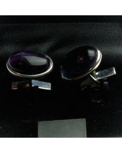 ZE1-1008 Manchetknopen - Echt Zilver 925 Fluoriet 1.jpg