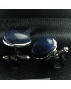 ZE2-1002 Manchetknopen - Echt 925 Zilver Sodaliet 1.jpg