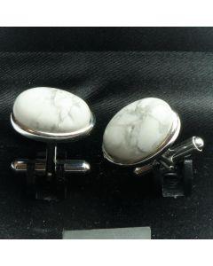 ZE2-1004 Manchetknopen - Echt 925 Zilver Howliet 1.jpg