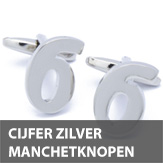 Cijfer zilver manchetknopen