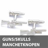 Guns en skulls manchetknopen