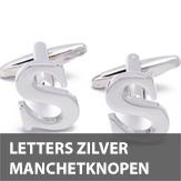 Letters zilver manchetknopen
