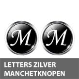 Letters zilver rond manchetknopen