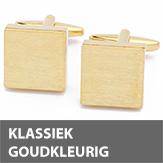 Klassiek goudkleurige manchetknopen