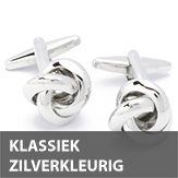 Klassiek zilverkleurige manchetknopen